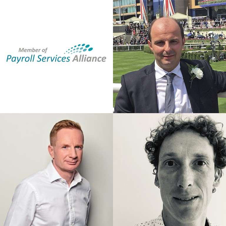 Payroll Services Alliance (PSA), Michele Martinelli (F2A), Martin Vosahlik (Elanor) e Jan Van Mol (SD Worx).